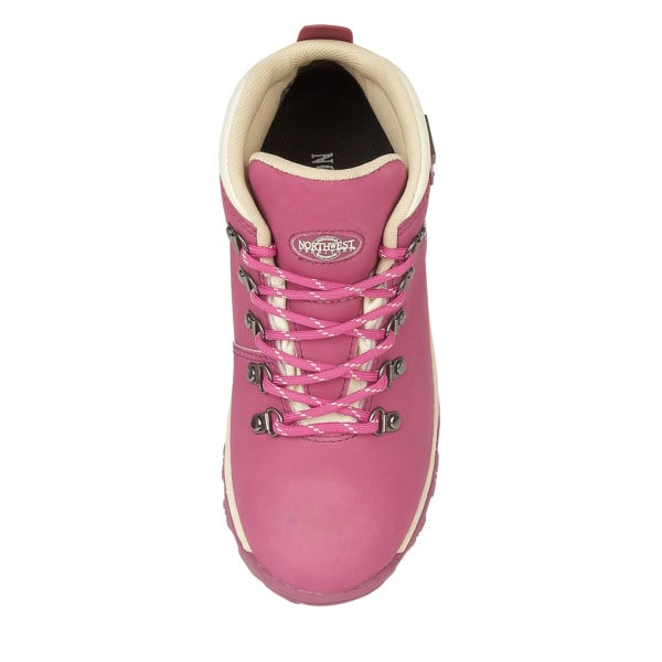 TREK HOT PINK WALKING BOOT FROM ABOVE