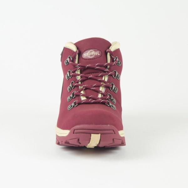 Trek Burgundy Front Of Walking Boot