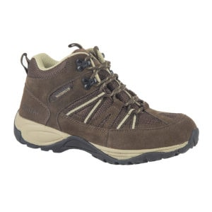 Ladies Walking Boots - Brock Brown Beige side Of Walking Boot