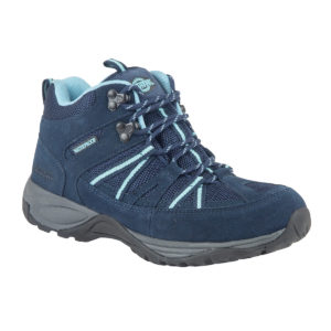 Ladies Walking Boots - Brock Navy Side Of Walking Boot