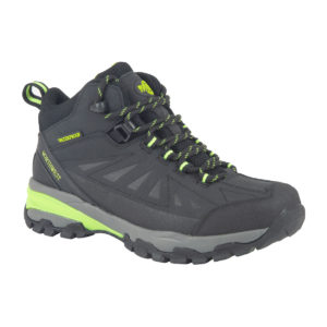 Keele Black Lime side Of Walking Boot
